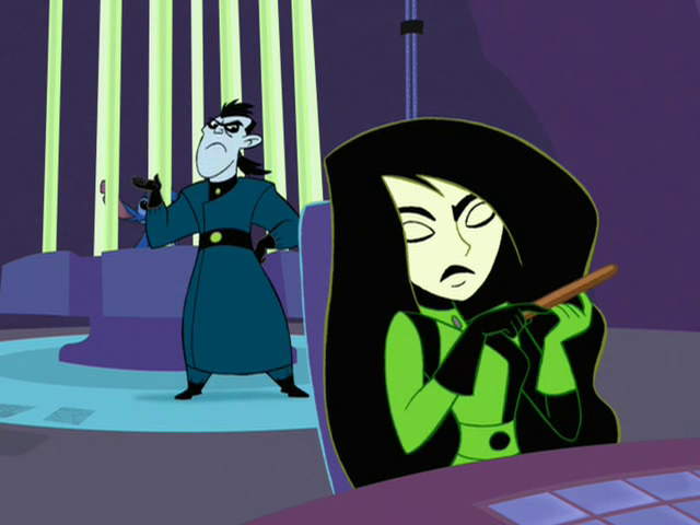 Drakken and Shego arguing in the Lilo & Stitch Crossover