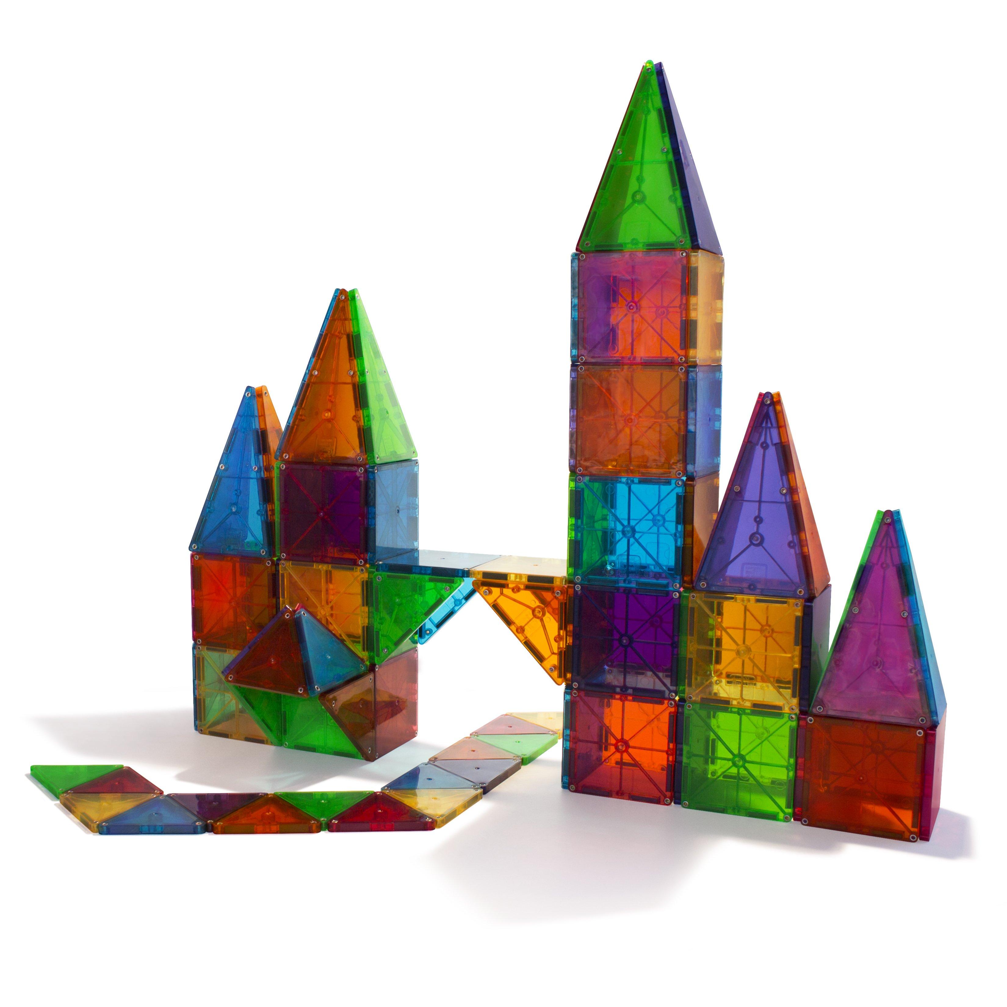 Magna Tiles Clear Colors 100 Piece Set Free Shipping Magna Tiles Magnetic Tiles Magnetic Building Tiles