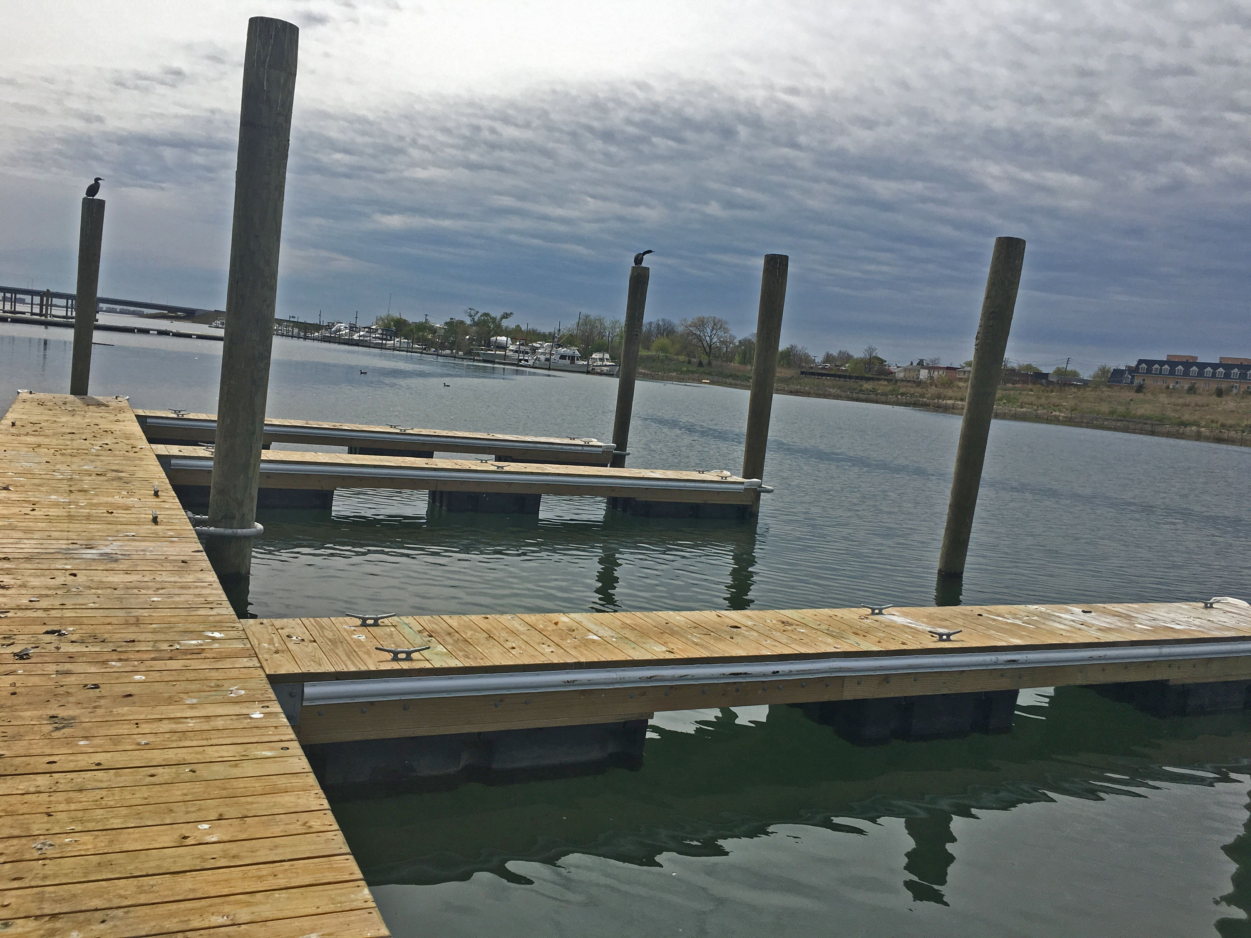 Here is a view of H2M's replacement docks from the Paerdegat Basin Project!