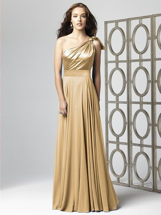 Chiffon Gold Bridesmaid Dresses