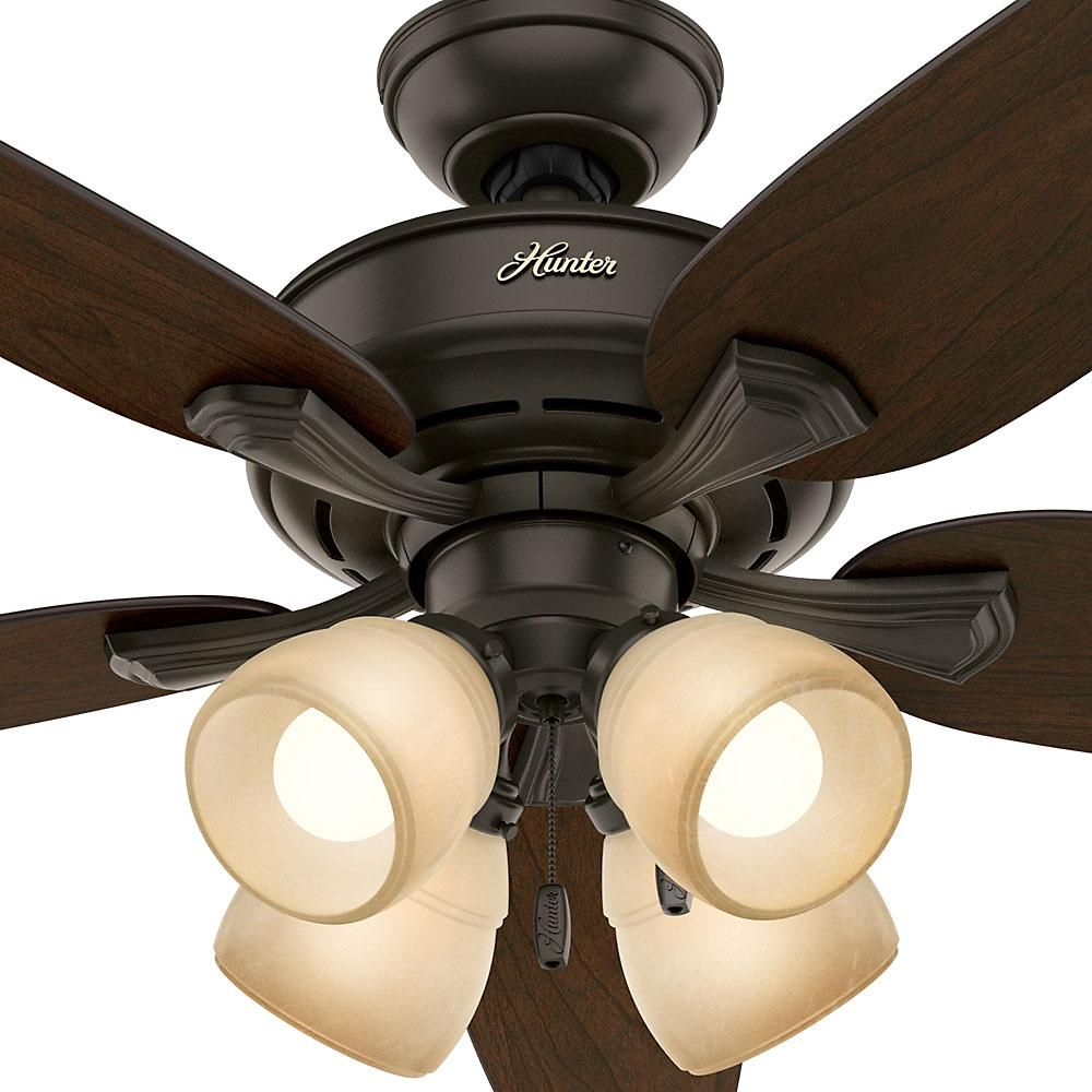 Hunter Channing 52 in. LED Indoor New Bronze Ceiling Fan ...