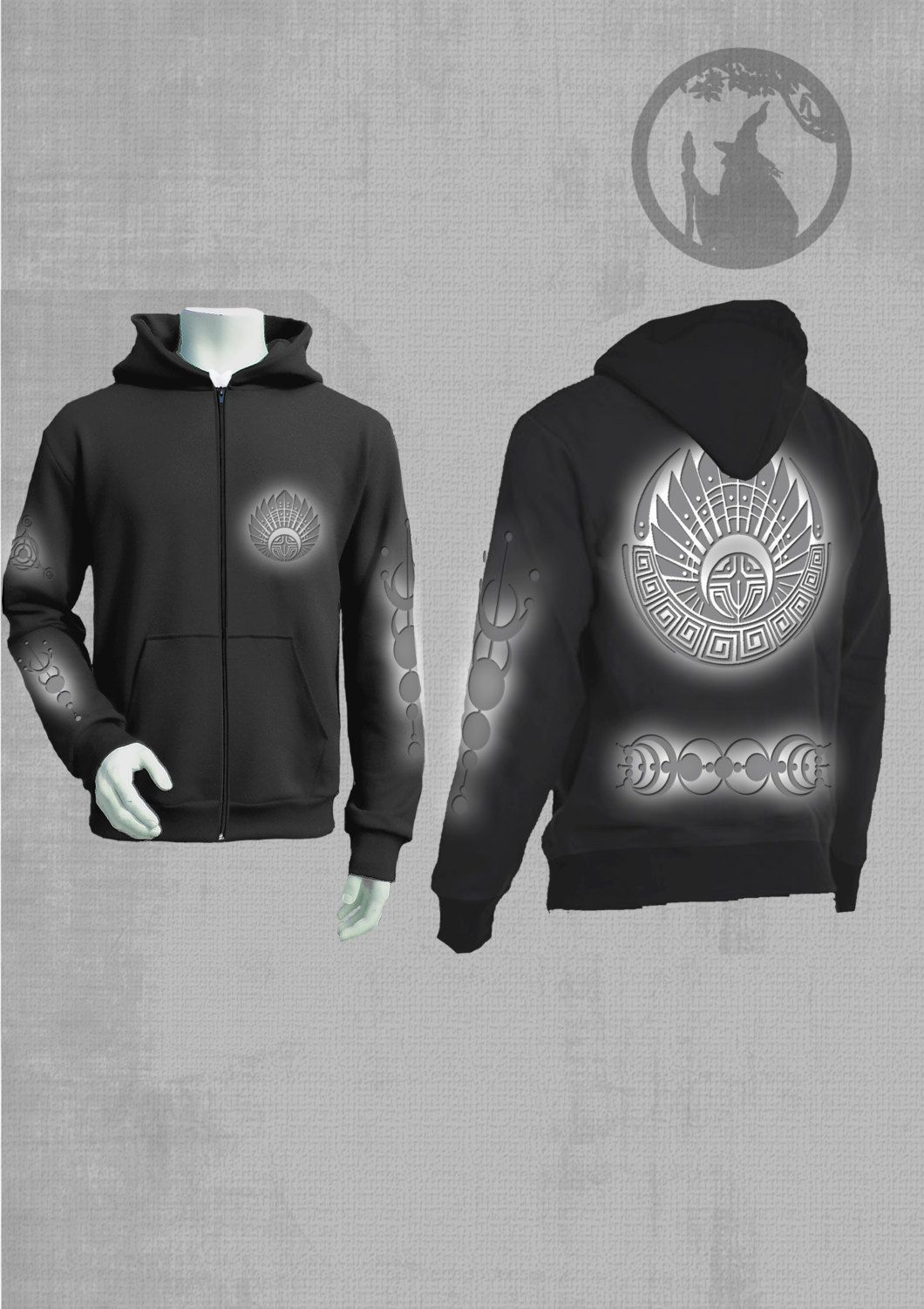 Mens Reflective Jacket Hoodie Crop Circles Psychedelic Clothing Festival Wear Reflective Hippie Psy Clothi Psy Clothing Psychedelic Clothing Festival Outfits