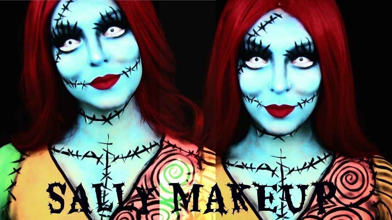 Sally | Nightmare Before Christmas | Halloween Makeup Tutorial ...