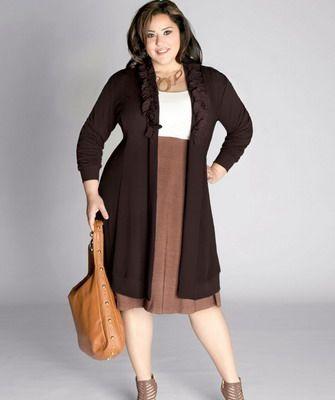 Stylové oblečení pro plnoštíhlé ženy  šaty a87f00a573