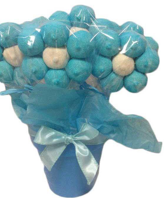 Macetas de flores de chuches azules maceta de flores - Macetas de chuches ...