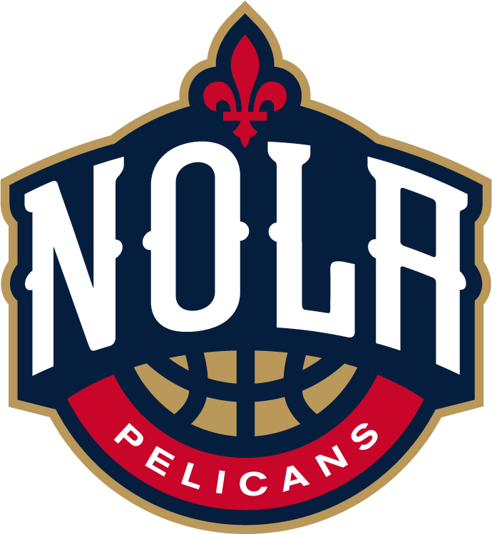 New Orleans Pelicans Secondary Logo Basketball Logo Design Sports Logo Design Logo Basketball