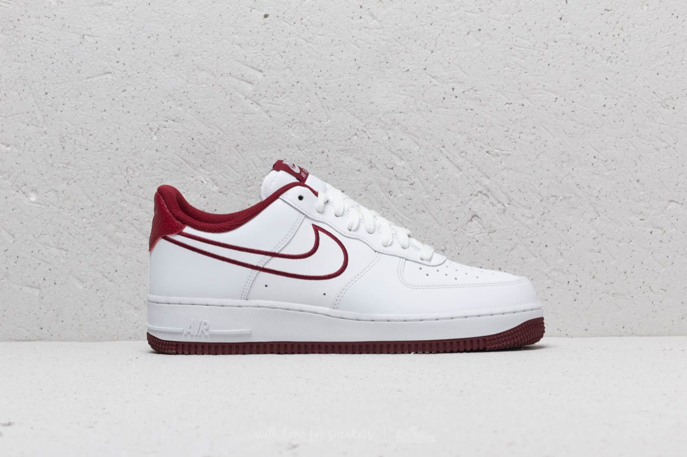f4f25cd04d3 Nike Air Force 1  07 Leather White  Team Red in 2019