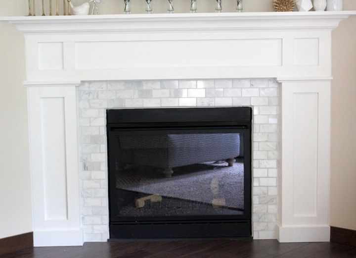 Subway Tile Fireplace Designs Home Design Ideas Tile Around
