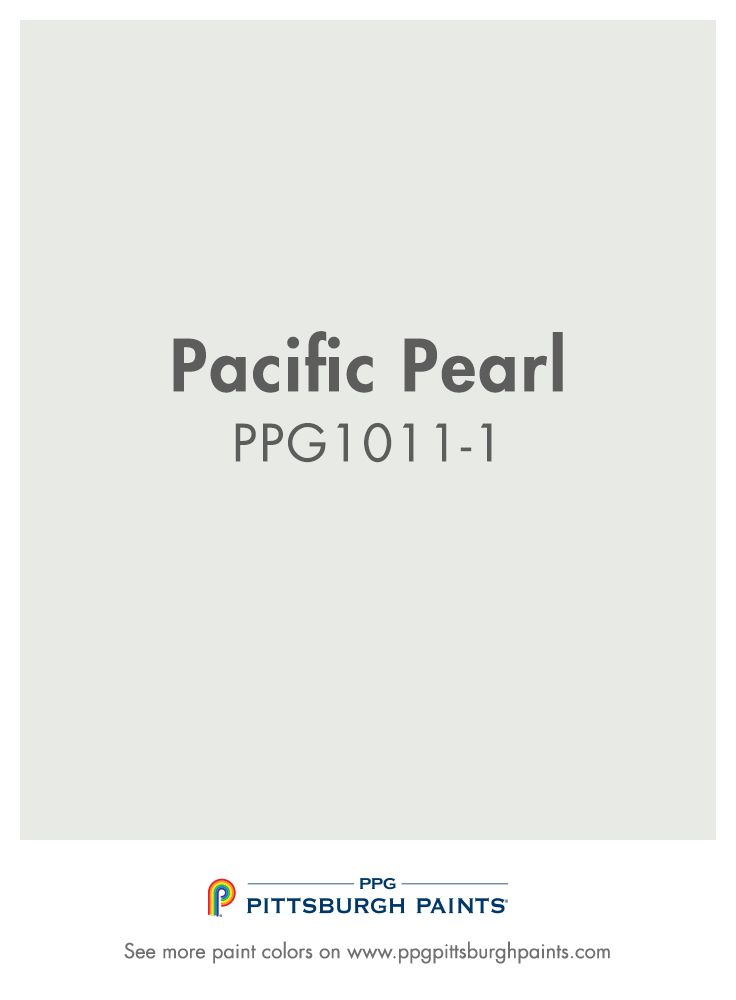 Pacific Pearl Ppg1011 1 From Ppg Pittsburgh Paints This