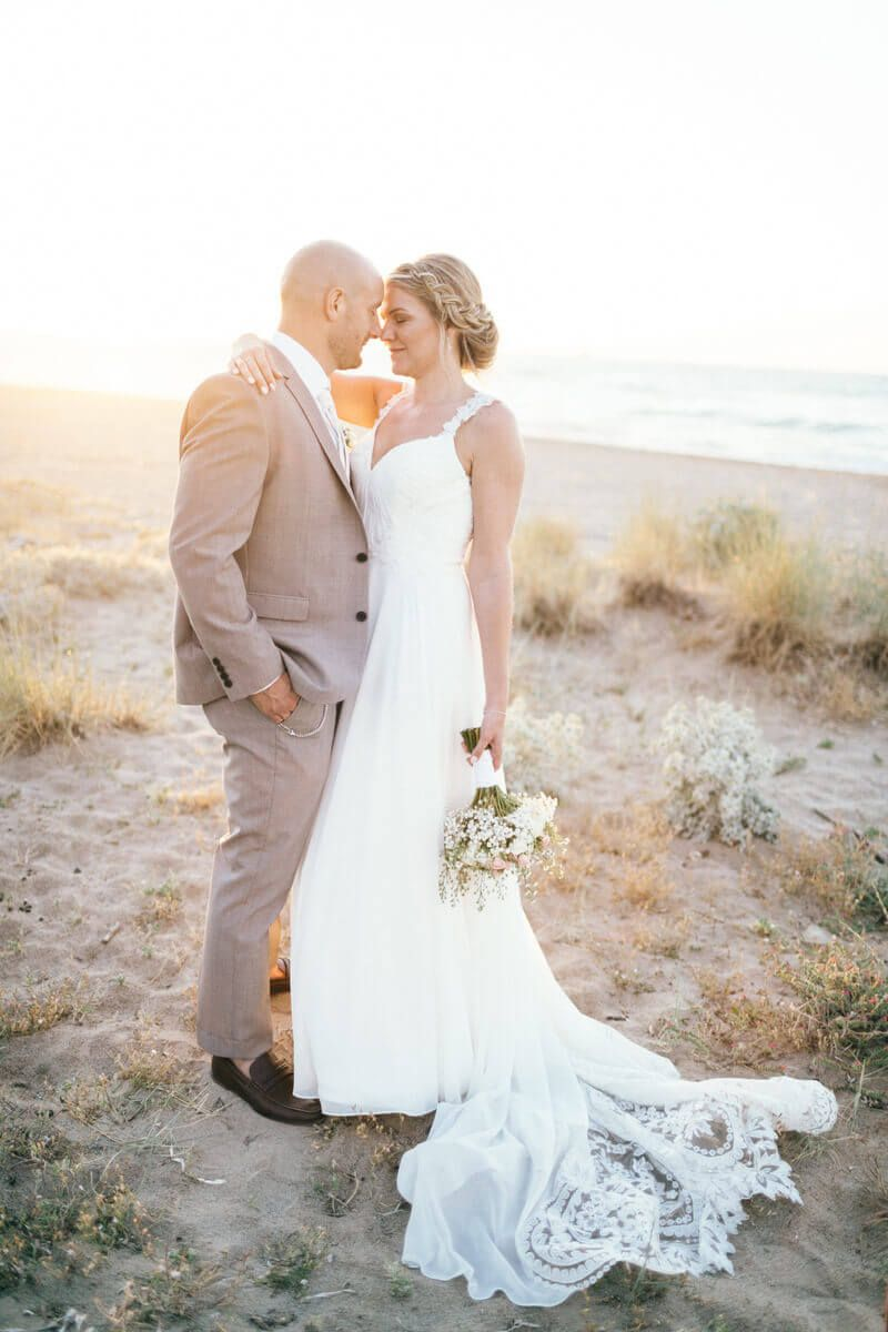 Beach wedding looks for bride  Gemma and Davidus Luxury Beach Wedding in Crete th of May