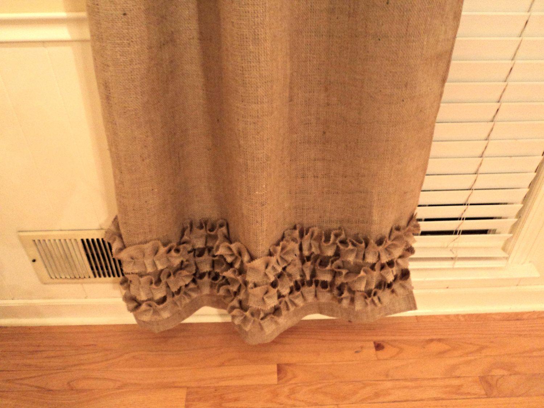 No Odor Burlap Curtains with Ruffles Burlap by theruffleddaisy