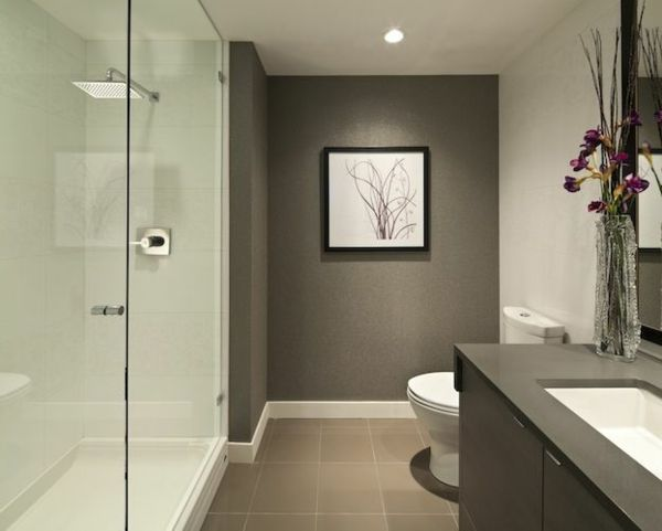 Moderne Badezimmermöbel ~ Wände streichen moderne badezimmer ideen weiß und grau badkamer