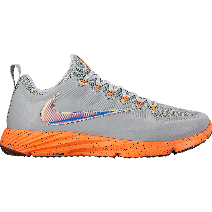 54f5c285f4 Limited Edition Thompson Brothers Turfs Nike Vapor Speed Lax Turf in Gray  Orange Mesh and foam upper for breathable comfort and support Comfort  collar ...