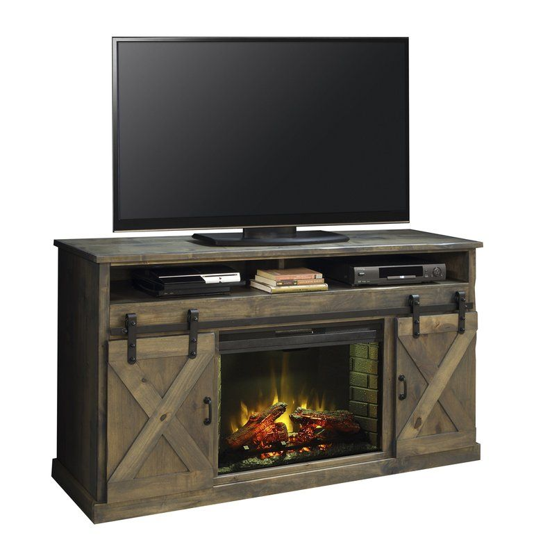 Pullman Tv Stand For Tvs Up To 85 With Electric Fireplace