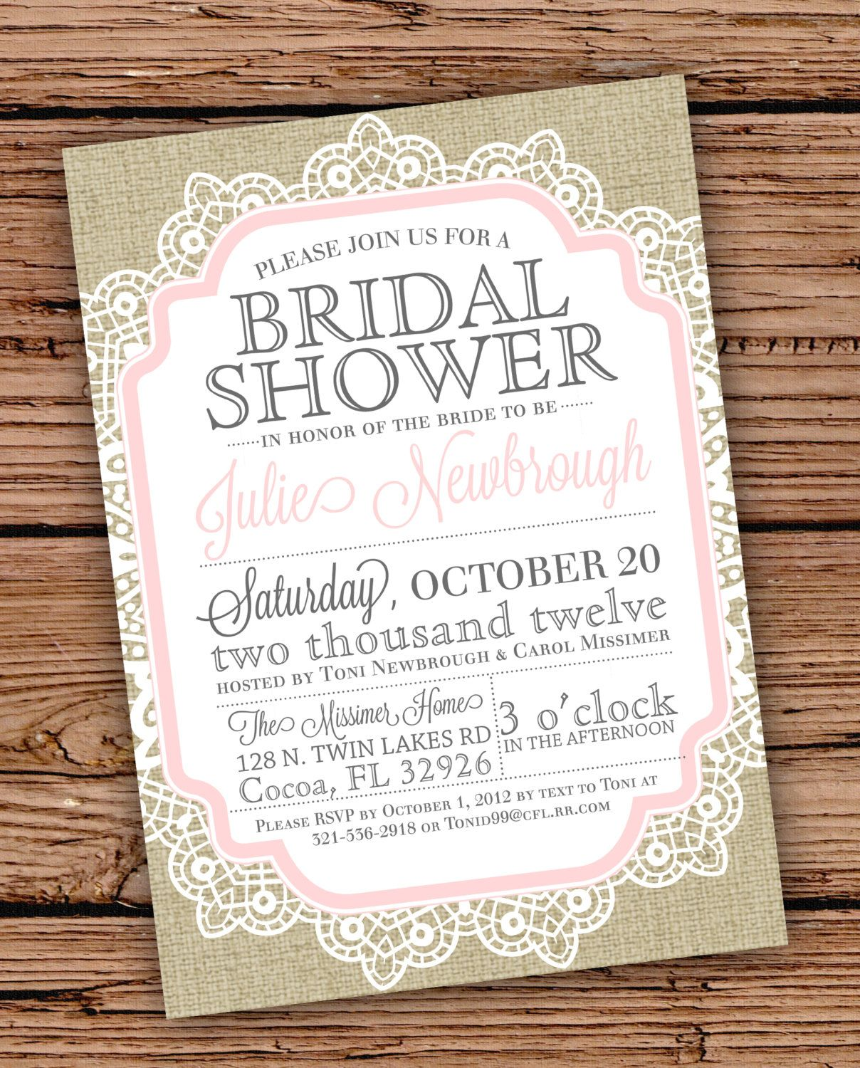 burlap and lace vintage bridal showerbaby shower by julsnewbrough 2000