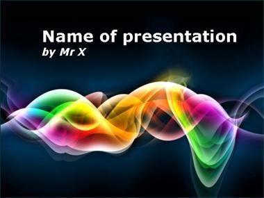 rainbow multiple curves powerpoint template   presentation, Powerpoint templates