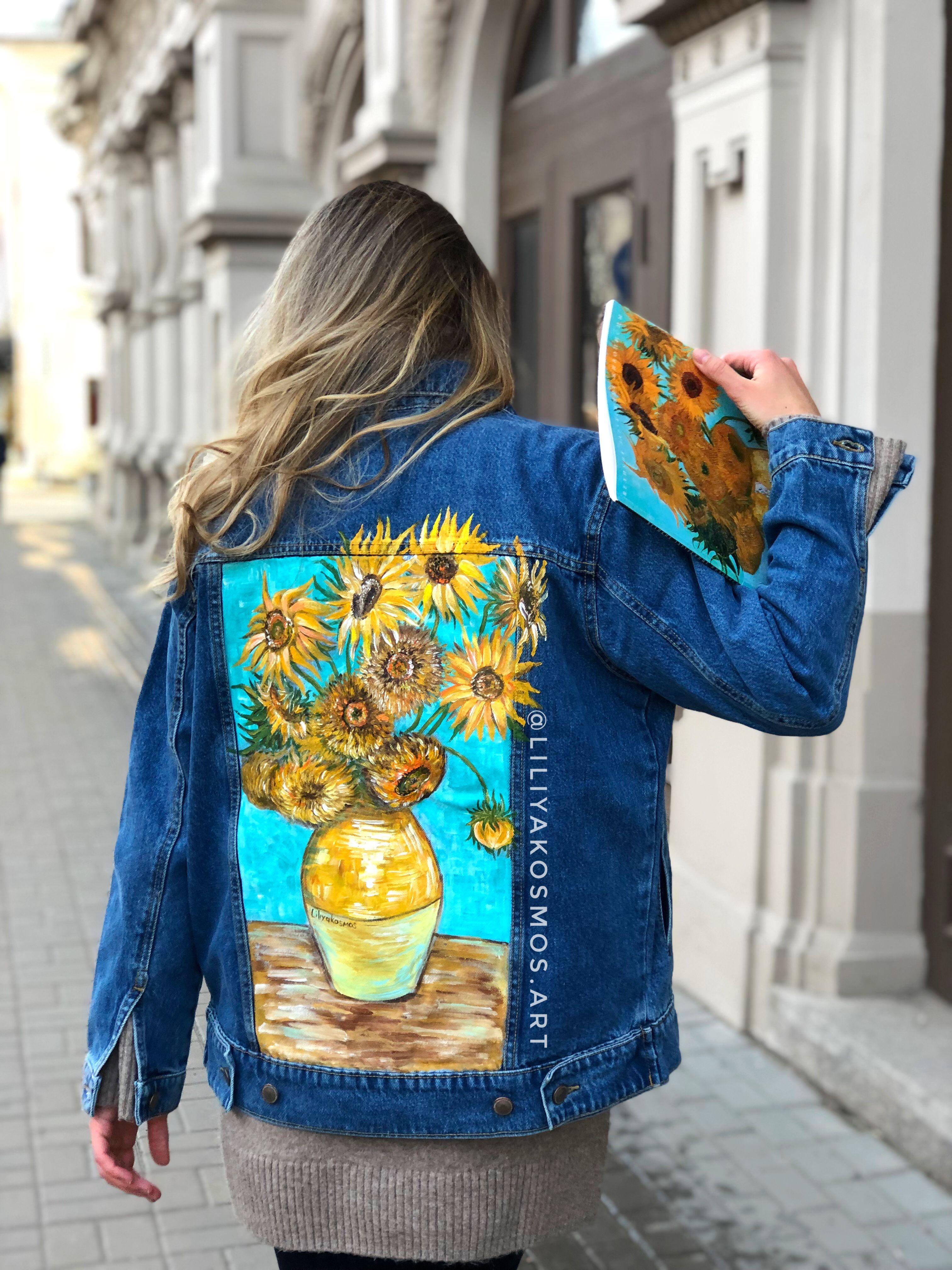 Pin On Painted Custom Denim Jackets By Liliyakosmos Art [ 4032 x 3024 Pixel ]