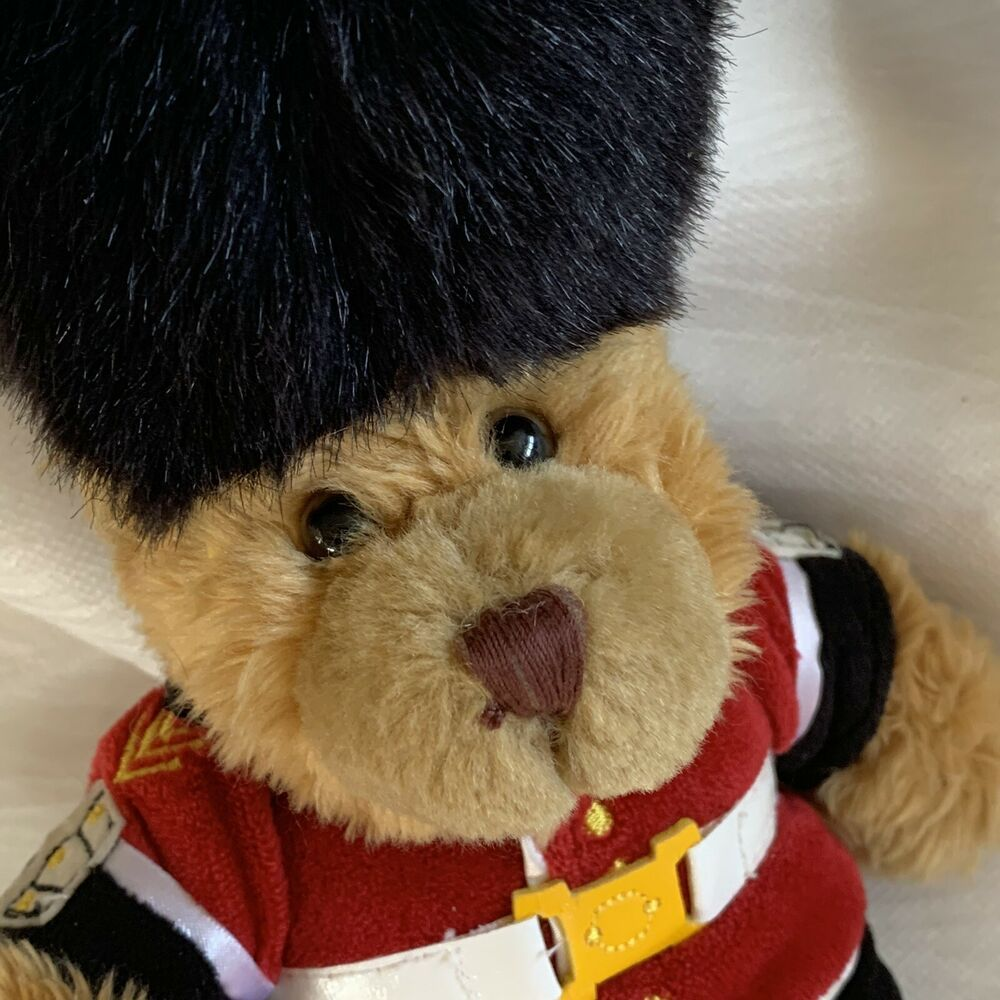 "KEEL TOYS GUARDSMAN 10"" Plush BEAR British Queen's Royal"