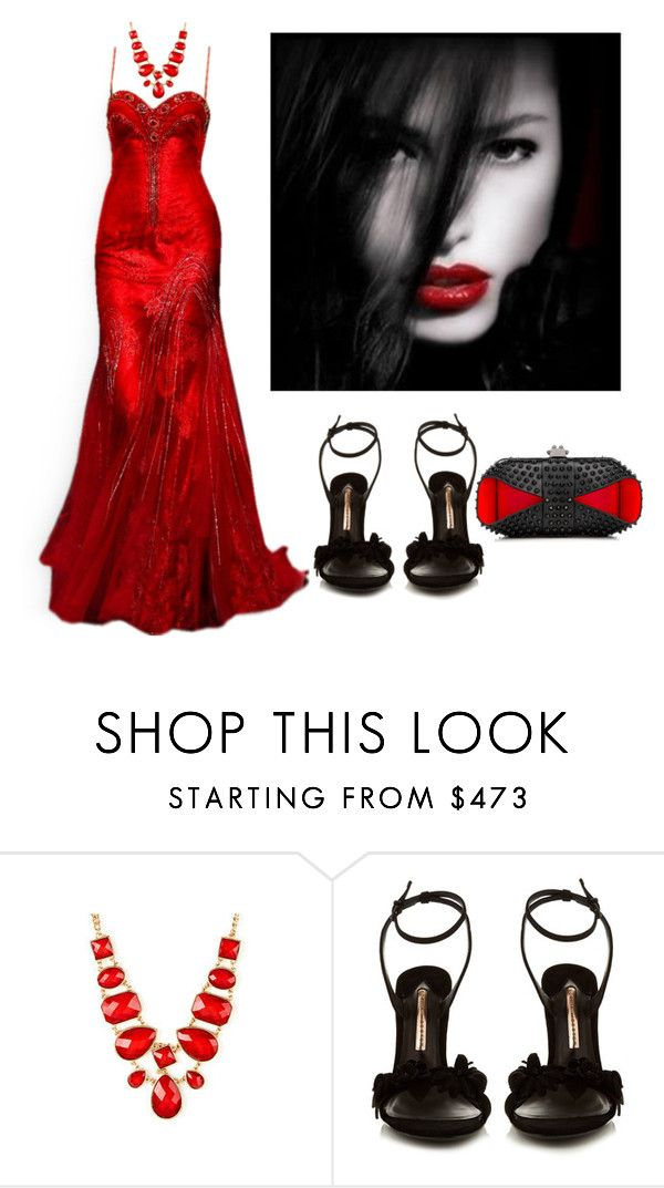 """""""Outfit #34"""" by sunshine24-7-1 ❤ liked on Polyvore featuring Sophia Webster and Christian Louboutin"""