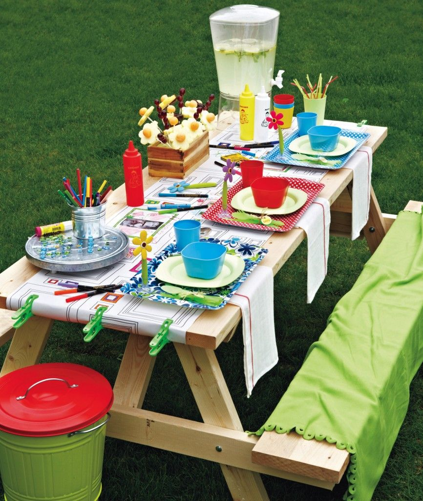 10 ways to set a fun packed party picnic table for kids picnics