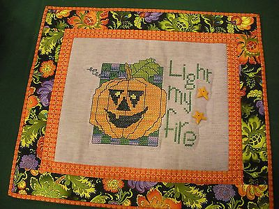 Other Needle Arts and Crafts 71184: Light My Fire Stitched Quilted Wallhanging -> BUY IT NOW ONLY: $34 on eBay!