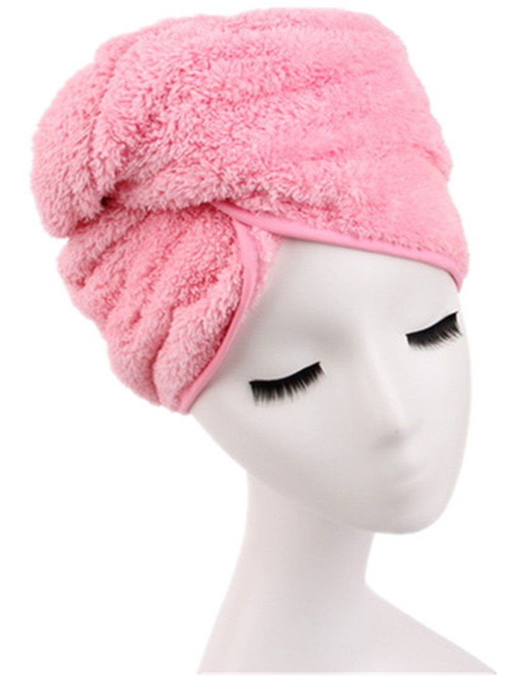 f46b96135d0 Moolecole Super Absorbent Microfiber Hair Dry Towel Thickened Shower Cap  Hair Turban Quick Dry Hat Cap Pink * Learn more by visiting the image link.