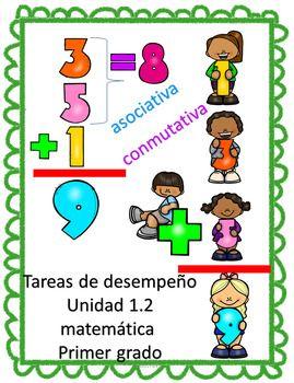 Tareas de desempeño Unidad 1.2 Matemática Primer Grado | Pinterest ...