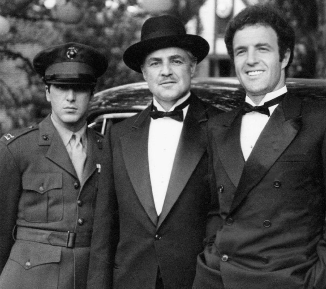 Vito Corleone and his sons - Michael and Sonny - The ...