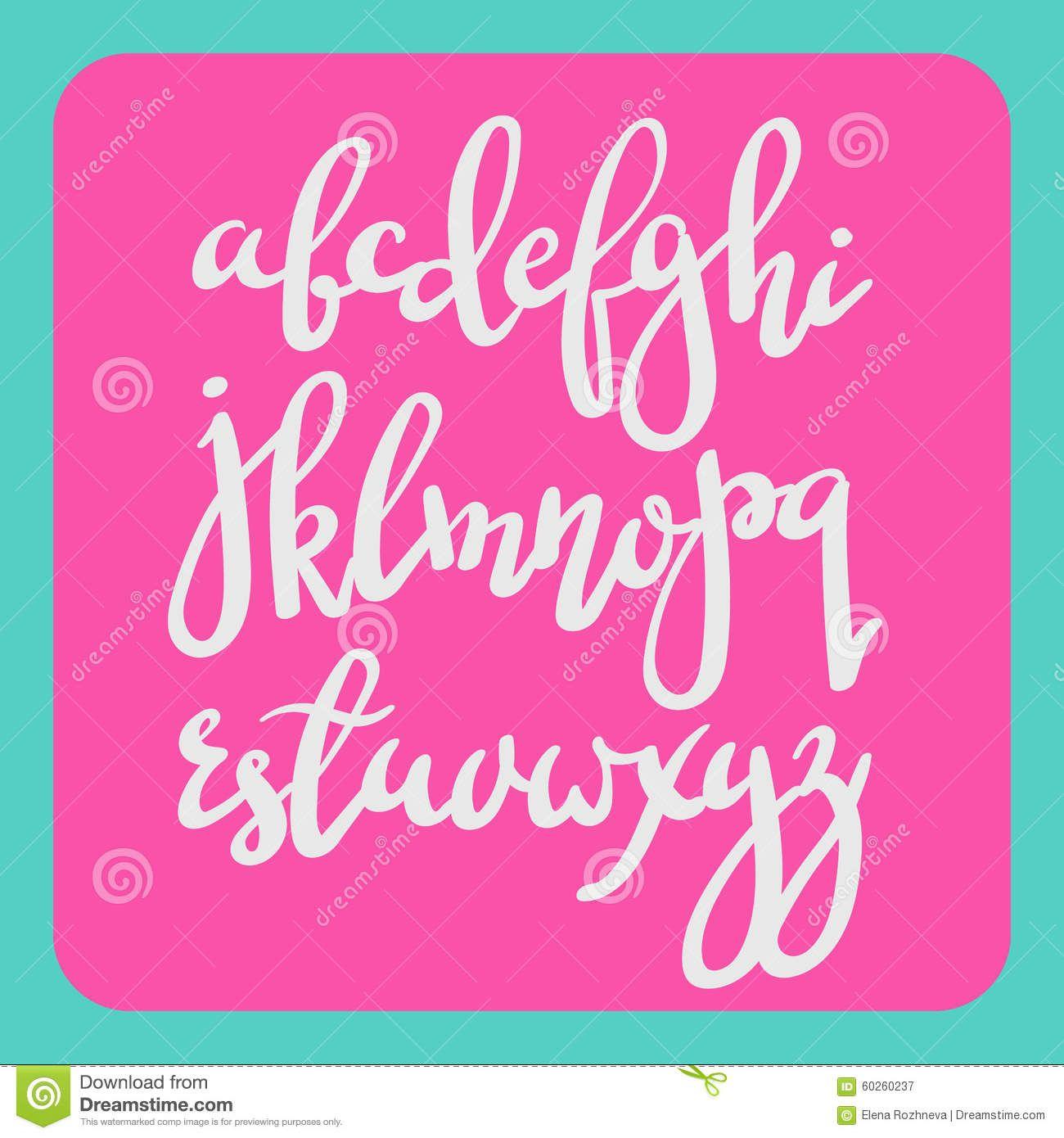 brush lettering | Handwritten brush pen modern calligraphy font. Stylish letters hand ...