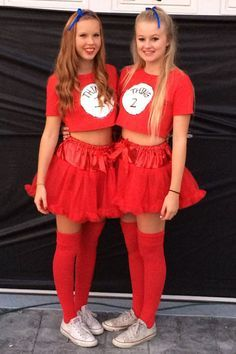cute costumes for best friends thing 1 and thing 2 yahoo image search results - Thing 1 Thing 2 Halloween Costume