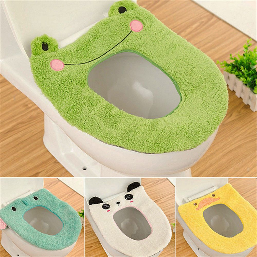 Bathroom Toilet Seat Closestool Washable Soft Warmer Lid Mat Cover Pad Cushion