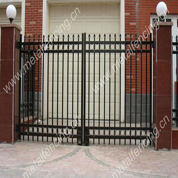 Professional Factory Supply Main Gate Designswrought Iron Gate