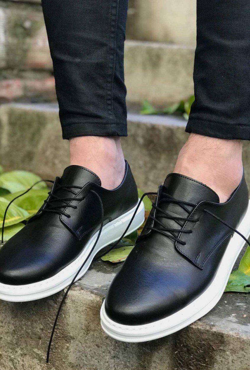 Apollo Men Shoes Black White Mens Us9 Uk8 5 Eur42 In 2021 Sneakers Men Fashion Dress Shoes Men Shoes Mens [ 1252 x 845 Pixel ]