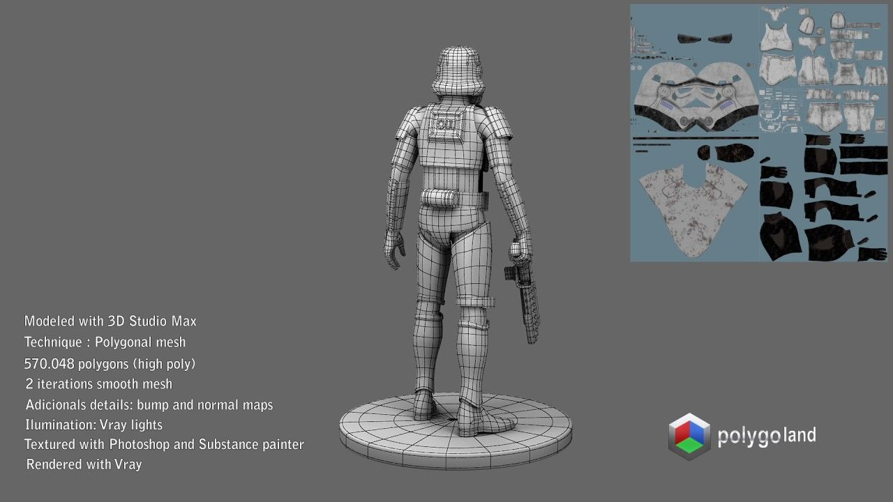 Star Wars Stormtrooper 3d model Personajes