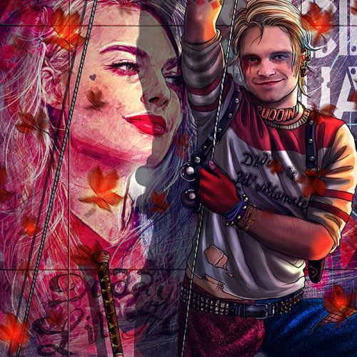 Bucky as Harley Quinn, from The Life of Bucky Barnes