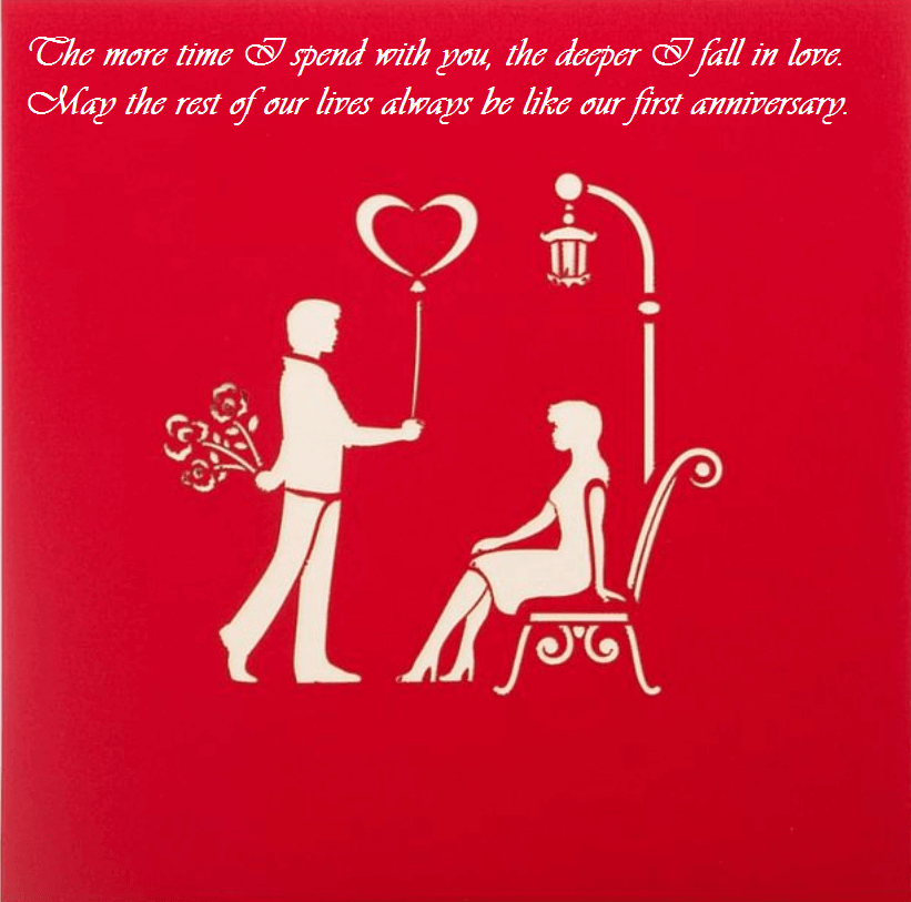 First Wedding Anniversary Wishes For Wife Quotes First