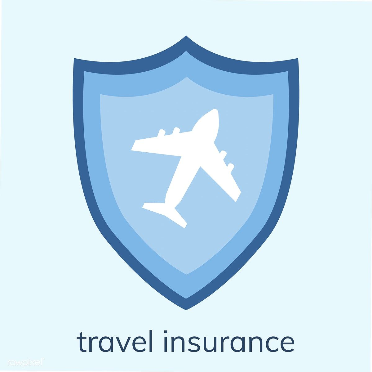 Illustration of a travel insurance icon free image by