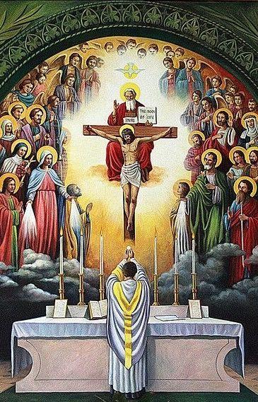 Celebración de la Santa Misa | Arte católico, Imágenes religiosas ...