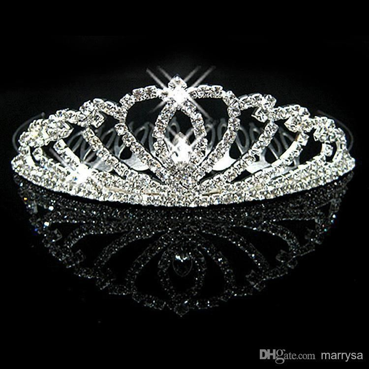 Cheap New Hot Crystals Bridal Crowns Girls Evening Prom Party Shining Tiaras & Hair Accessories CW003 Online with $4.19/Piece on Marrysa's Store   DHgate.com