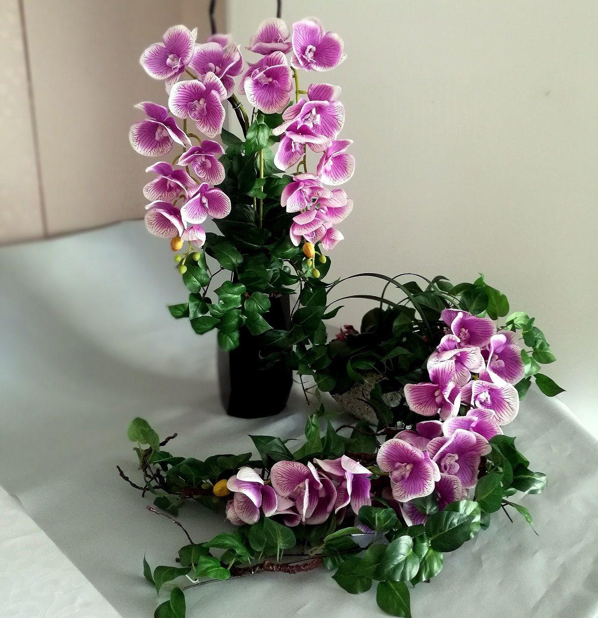 Kompozycja Nagrobna Fioletowy Storczyk Bukiet Nr 109 Swiateczne Atelier Plants Glass Vase Decor