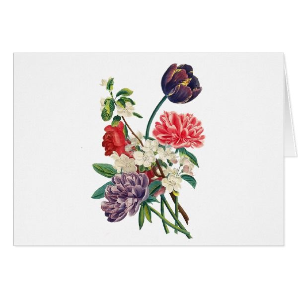 Redoute Tulips and Peonies Card #cards #birthday #happybirthday