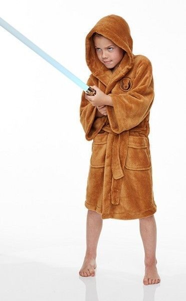 Jedi Star Wars childrens dressing gown (childs kids bathrobe boys ...