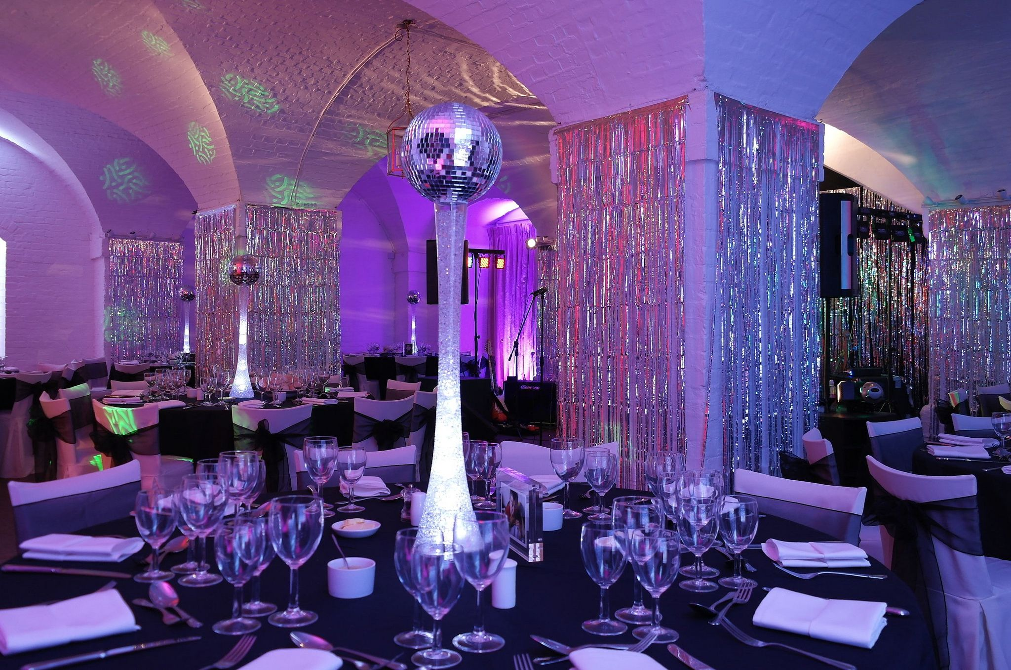 Clandon Park Surrey Shimmer curtains, illuminated mirror