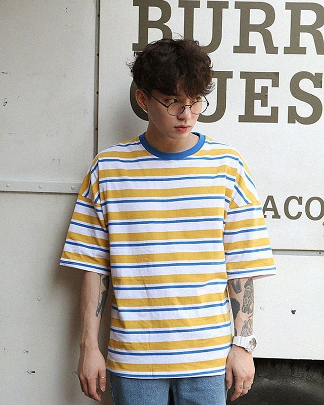 Sunny Stripe T Shirt 2color Rif Clothes Fashion Mens Fashion
