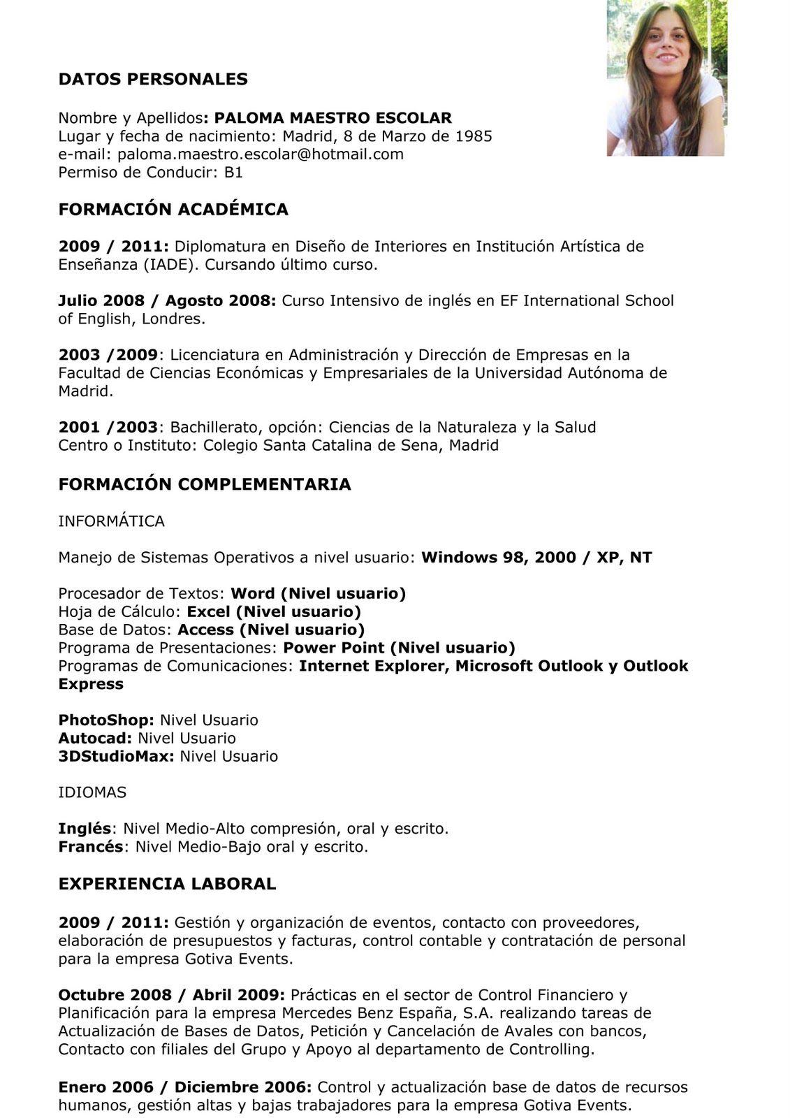 modelos de Curriculumvitae.jpg (1131×1600) Curriculum