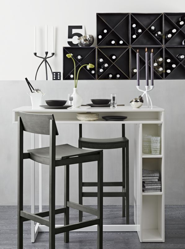 Public White High Dining Table | CB2