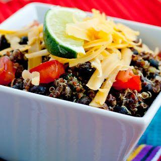 mexican black bean #quinoa bowl - love quinoa recipes!