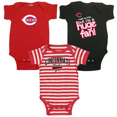 detailed look 6f6f3 1d93b Cincinnati Reds Infant Baby Rib Creeper 3-Pack. So cute :D ...