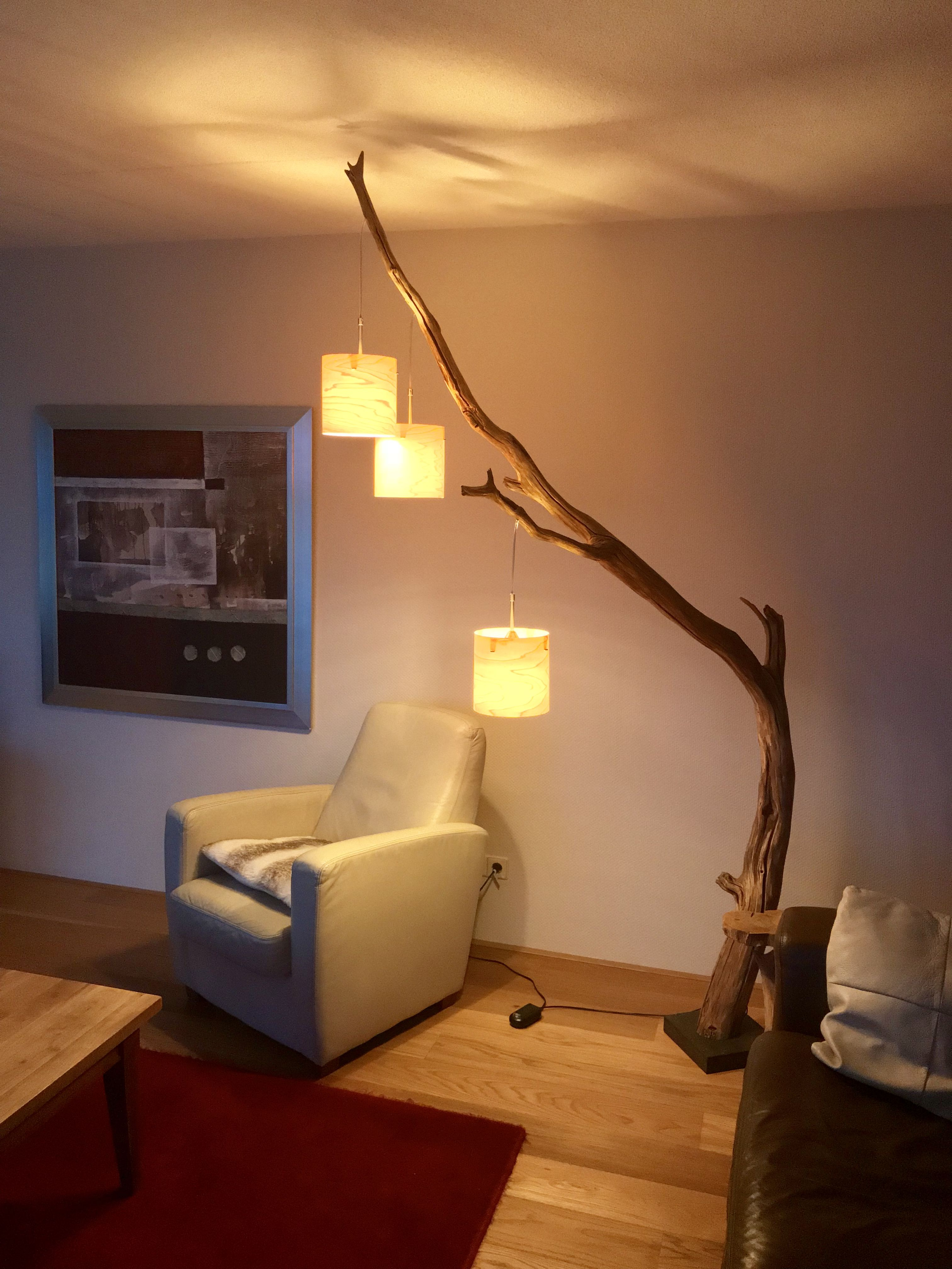 Cozy Wooden Floor Lamp Of Old Wood Made By Gbh Natureart