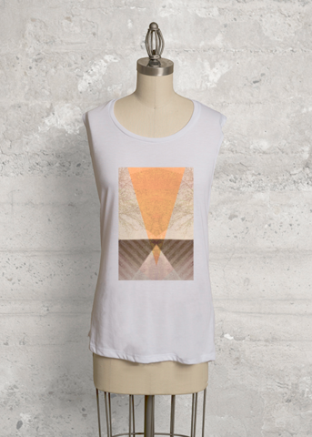 TRIANGLES vs TREES P22-D2  #artwork #custommade #piaschneider #vida #top #womensfashion #womensclothing #sleevelessknittop #knittop #unique #designerclothing  #piaschneider #ateliercolourvision #shopvida